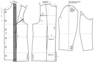 Для построения чертежа выкройки пальто необходимо снять следующие мерки.
