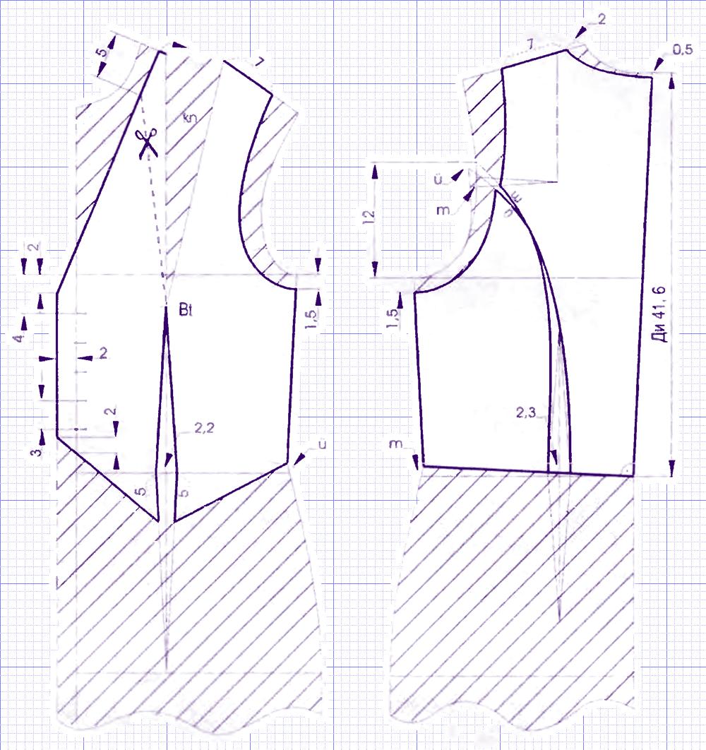Выкройка жилетки женской своими руками