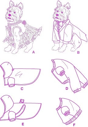 Выкройка одежды для пинчера